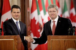 En la sede del Parlamento, el presidente electo de México dijo que en su diálogo con el primer ministro Harper compartió el interés por intercambiar experiencias en distintos ámbitos, entre ellos el de la seguridad pública.