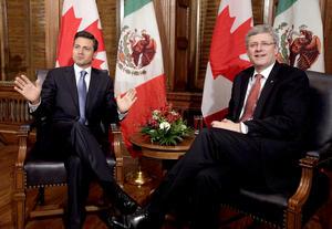 El primer ministro de Canadá, Stephen Harper, expresó al presidente electo de México, Enrique Peña Nieto, su beneplácito de poder trabajar en el futuro para cumplir los objetivos comunes de incrementar la prosperidad, así como el bienestar social y económico en ambos países.
