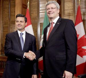 Durante la última etapa de su gira por los países norteamericanos, el presidente electo de México, Enrique Peña Nieto, reconoció a Canadá como un socio estratégico de México