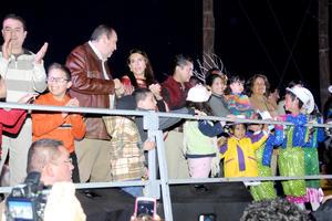 El evento estuvo encabezado por el gobernador Rubén Moreira e inició minutos después de las 18:00 horas.