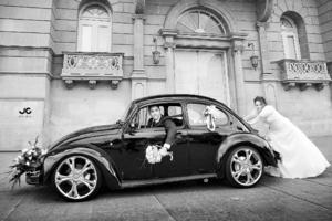 DR. JORGE Romero Magallanes y L.R.H. Karla Jéssica Robles Muñoz, el día de su boda.- JC Studio