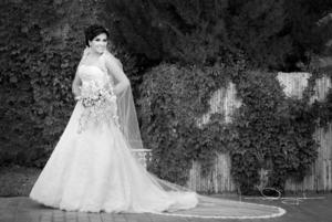 SRITA. CARMEN Lucía Monárrez Ramírez, el día que contrajo matrimonio con Sr. David Obregón Alba.- Laura Grageda Fotografía