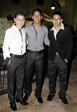 Antonio López, Diego Rodríguez y Raul González.