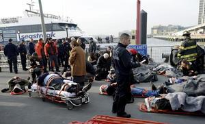 Las autoridades enviaron a la zona 150 miembros de los servicios de emergencias en tres minutos.