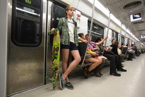 Los participantes aprovecharon para presumir, a su estilo, su mejor ropa interior.