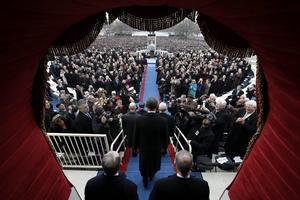 """En la ceremonia de investidura, Obama delineó una ambiciosa agenda para su segundo mandato y dedicó varias frases a la amenaza del calentamiento global al decir que, si se fracasa, """"será una traición a nuestros hijos y generaciones futuras""""."""