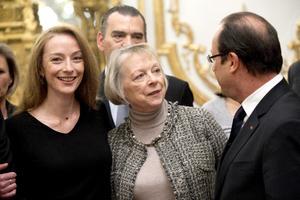 """Indicó que no habló de las condiciones de su liberación durante la entrevista con Hollande, que se desarrolló en un """"clima distendido"""", indicaron fuentes de la presidencia."""