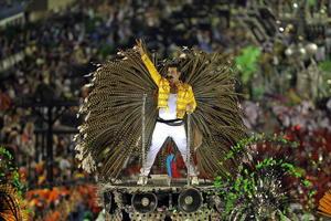 Disfraces de todo tipo se pudieron apreciar en el Carnaval de Río de Janeiro.