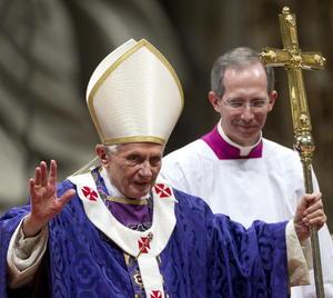 Benedicto XVI celebró su última misa por el Miércoles de Ceniza como Papa, luego que anunciara de manera sorpresiva su renuncia al pontificado.