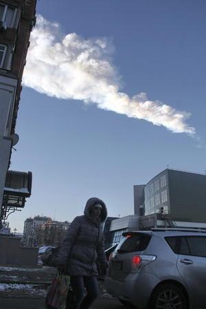 Cientos de personas resultaron heridas a causa de la caída del meteorito en Rusia. (EFE)