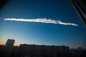 La estela dejada sobre Chelyabinsk. (AP)