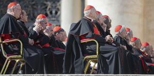 Los cardenales que participarán en el cónclave estuvieron presentes en el último acto público de Benedicto XVI como Papa.