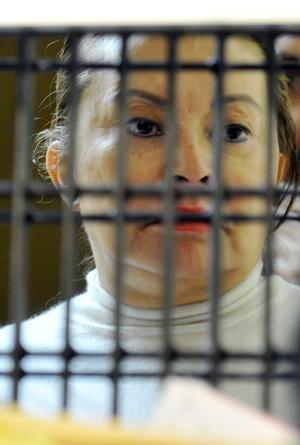 Gordillo hizo su primera aparición desde su arresto, en el Juzgado Sexto de Distrito en el Reclusorio Oriente del Distrito Federal.