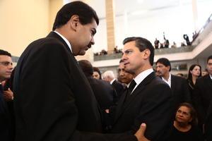 Peña Nieto llegó al recinto alrededor de las 10:50 (hora local), para participar en la ceremonia.