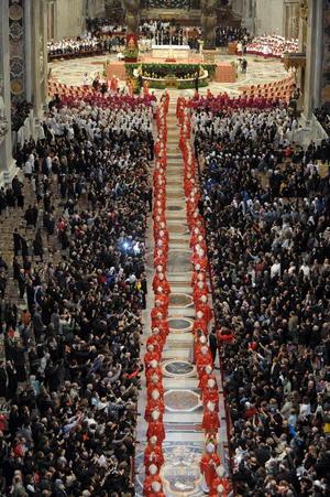 """En total, son 115 los cardenales que están facultados para elegir al llamado """"sucesor de Pedro""""."""