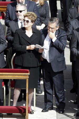 La presidenta de Brasil, Dilma Rousseff, se encontraba entre los mandatarios asistentes.