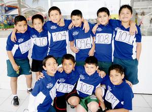 Daniel, Aldo, Gustavo, Josué, Arath, Luis, Jorge, Samuel, Juan y José.