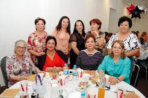 Maripaz, Elva, Diana, Coco, Hortensia, Mariela, Cuqui, Susana y Jilma.
