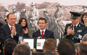 El presidente Enrique Peña Nieto encabezó la conmemoración del centenario del Plan de Guadalupe en Ramos Arizpe, Coahuila.