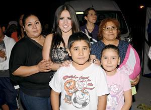 Jennifer, Isaac, María del Carmen, Yoselin y Lorena Gabriela.