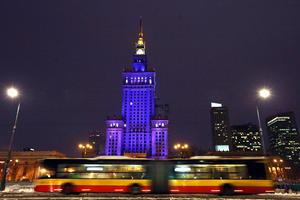 El Palacio de Cultura y Ciencia de en Varsovia se unió al movimiento azul.