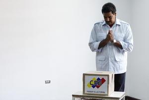 """El candidato chavista dijo que sintió """"una gran emoción todo el día"""" y también una """"gran paz general""""."""