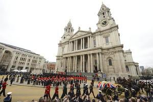 La bendición final fue impartida por el arzobispo de Canterbury, Justin Welby, en una ceremonia de una hora de duración.
