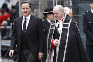 El primer ministro británico David Cameron asistió a la ceremonia.