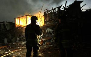 El lugar de la explosión ha sido tratado como una escena del crimen, aunque no se tenga evidencia inmediata de que se hubiera tratado de un atentado.