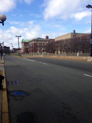 La imagen tomada a la que debería de ser una hora pico en Boston. (Twitter)