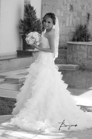 LIC. GABRIELA  Gamboa Romero el día de su boda con el Ing. Gerardo González Núñez.- Benjamín Fotografía