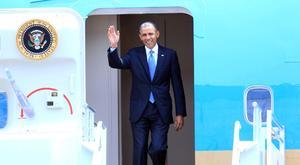 El presidente de Estados Unidos, Barack Obama, llegó a la ciudad de México  para iniciar una visita oficial de dos días en la que se entrevistará con su homólogo mexicano, Enrique Peña Nieto.