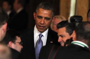 Fue en Palacio Nacional donde Barack Obama tuvo un primer encuentro bilateral con el presidente Peña Nieto.