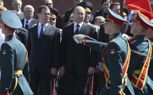 """""""Haremos todo por fortalecer la seguridad en el mundo"""", afirmó el presidente de Rusia, Vladímir Putin, en una breve alocución previa al comienzo del tradicional desfile militar con motivo del Día de la Victoria."""