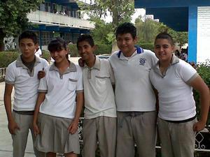 Alejandro, Crista, Óscar, Carlos y Jorge.