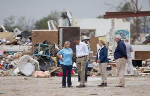 """""""Una imagen vale más que mil palabras"""", dijo tras confirmar que más de 1,200 casas han sido completamente destruidas y que alrededor de 12,000 hogares han sido afectados."""