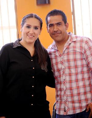 Cynthia Lara y Fernando Gómez