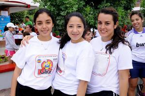 Elizabeth Larriva, Marigel Aguilera y Mary Potier.
