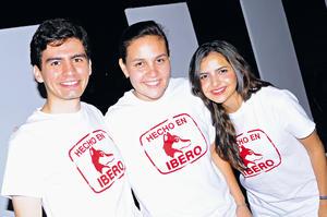 Humberto Zugasti, Gabriela García e Irandi Yáñez.
