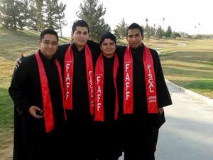 Gerardo Ortiz, Leonel Torres, Mario Castañeda y Luis Laborico.