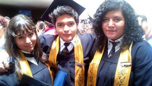 Esmeralda, Lalo y Lorena.