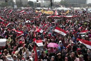 Fue la plaza Tahrir de El Cairo, donde se vivieron las protestas más fuertes y miles de egipcios se concentraron día a día.