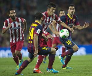 David 'el guaje' Villa regresó al Camp Nou. pero esta vez para pelear por la Supercopa contra su anterior equipo.