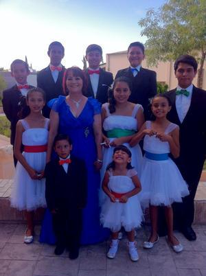 Lilia, Daniel, Dayana, Alan, Carol, Alejandro, Ángela, Sergio, Axel, Ana Paula y Mario.