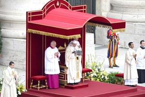 El papa Francisco concluyó con una misa el Año de la Fe, convocado e iniciado por Benedicto XVI, y se expusieron por primera vez las reliquias que la Iglesia reconoce como la de San Pedro.