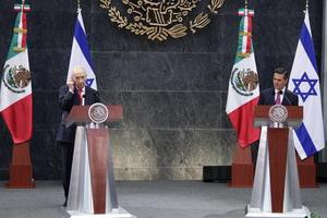 """""""México e Israel son viejos amigos, pero además ahora nos estamos convirtiendo en jóvenes socios con una nueva visión"""", agregó."""