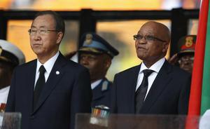 """El secretario general de la ONU destacó la capacidad de perdonar de Mandela: """"Era enemigo de la injusticia, no de las personas. Odiaba el odio, no a la gente""""."""
