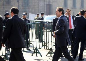 Elementos del Estado Mayor Presidencial fueron los encargados de la seguridad del reciento antes y durante el evento oficial.