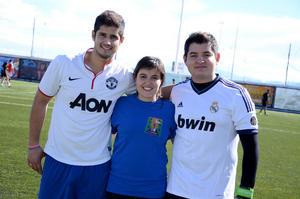 Luis, Blanca y Carlos.