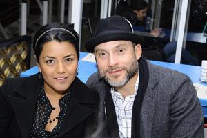 INAUGURACIóN DE UN RESTAURANTE.  Sandra y Miguel.